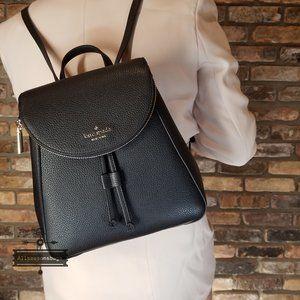 Kate Spade Medium Flap Backpack BLACK LEILA